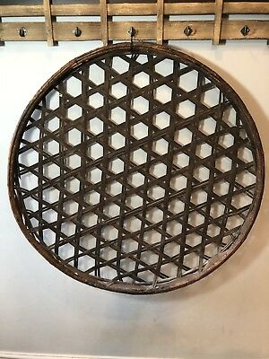 Large Antique Japanese Silkworm Basket Bamboo Kaiko-zaru Great for Home Decor