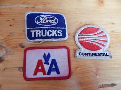 Lot of 3 Vintage Embroidered Patches-Ford Trucks, American Airline, Continental!