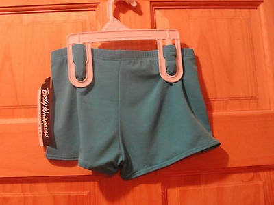 NWT NEW! BODY WRAPPERS BLUE TURQUOISE DANCE JAZZ BOOTY SHORTS adult small