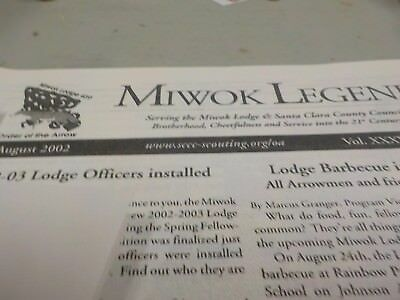 Miwok Order of the Arrow lodge collection o 1998's to 2017 newsletter