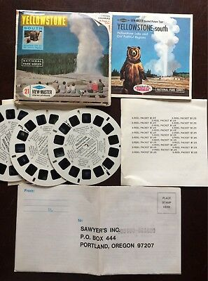 Viewmaster Yellowstone South 3 Reels w/booklet and Inserts - A3061 A3062 A3063