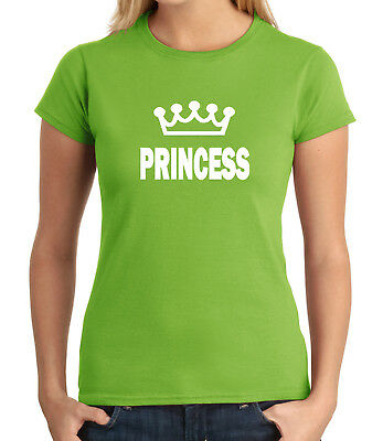 Princess and Crown JUNIOR'S T-shirt Her Cool Couple Matching GIRL'S Tee - 1639C
