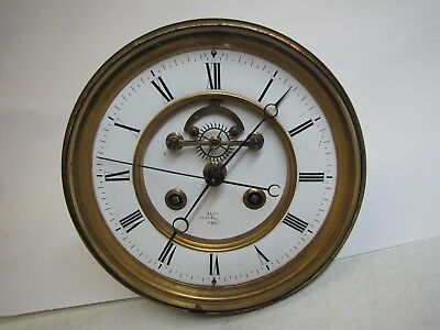 An Excellent Large French Striking Clock Movement with Center Seconds, Visible