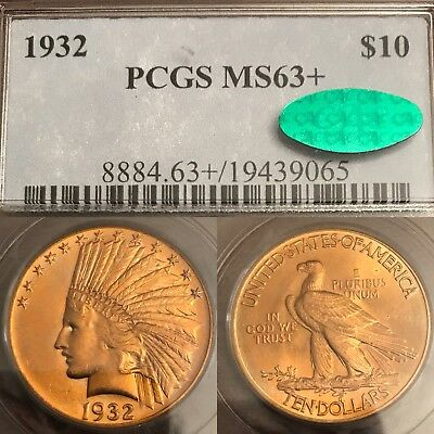 1932 $10 Indian Gold Eagle Pcgs Ms63+ (Plus) **cac Certified**