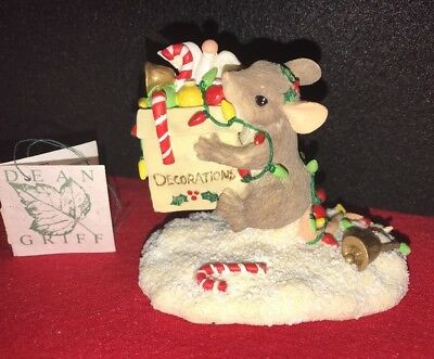 """1997 Charming Tails """"All The Trimmings"""" Figurine By Dean Griff"""