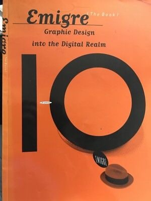 Out of Print RARE Emigre (the book) 10 Year Anniversary Issue Typography — 1993