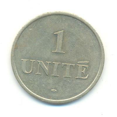 Very Nice Rare.token.one Unite .30Mm.very Collectable.c.32