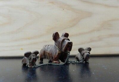 black forest carved wooden highland terrier dog,anri carved