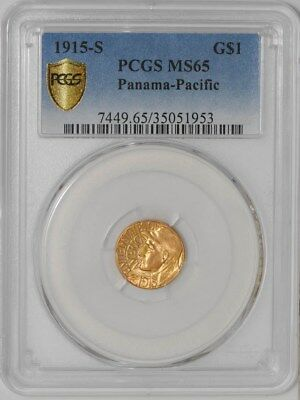 1915-S Panama Pacific Gold Dollar $ #35051953  MS65 Secure Plus PCGS