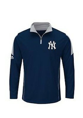 NY Yankees Quarter Zip Sweater Youth Large Genuine MLB Products