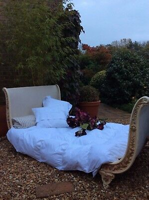 Rare Antique French Decorative Iron /Metal Sleigh Bed /Daybed~Fab Original 1800s