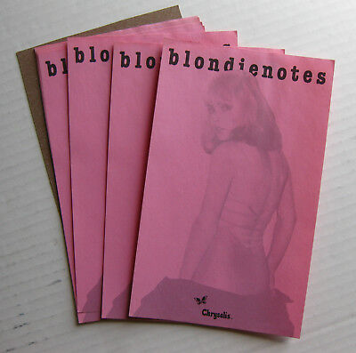 BLONDIE Plastic Letters 1978 US Promo NOTEPAD Deborah Harry PUNK (10 pages)