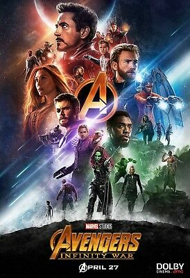"Avengers Infinity War Movie Poster 13x20"" 27x40"" 32x48"" Marvel Dolby Film Print"