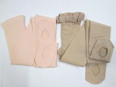 New NUDE +BALLET PINK Convertible Dance Tights Liberts MA LA XL Adult Transition