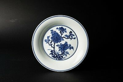 Early 20th Blue and White Chinese Antique Porcelain Dish