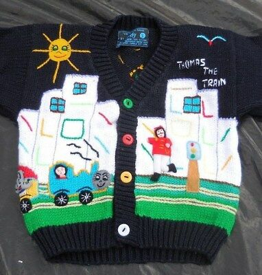Thomas the Train FAIRY TALES on PARADE Embellished Knit Cardigan Childs Size 2