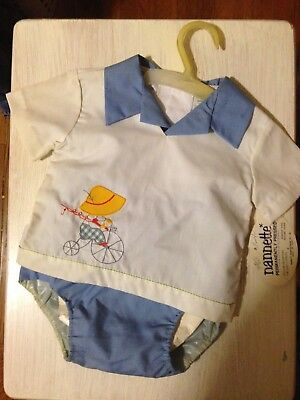 Vintage Baby Boys By Nannette 2 Piece Set Embroidered 3 - 6 mo w TAGS