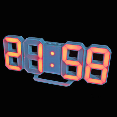 Table Desk Night Wall Digital LED Clock Alarm With Button Battery USB Cable ml8