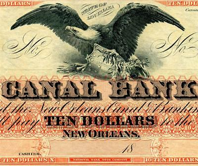 HGR FRIDAY 1860's $10 New Orleans ((Screaming Eagle)) Appears GEM UNCIRCULATED