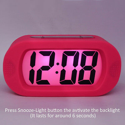 LCD Digital Alarm Clock Night Light Large Screen Numbers Bedside Alarm Clock SWY
