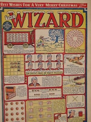 THE WIZARD   COMIC......VINTAGE ISSUE.......16th December  1950