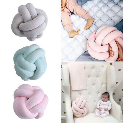 Innovative Handmade Knotted Knot Ball Home Baby Sweet Pillow Sofa Cushion GU8
