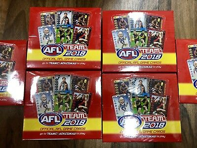 2018 Afl Teamcoach Team Coach Footy Trading Cards Sealed Box 36 Packs