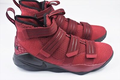 Nike Lebron Soldier XI 11 SFG Mens Size 10 Shoes Red Crimson Black 897646  600 b93f0d52f40c