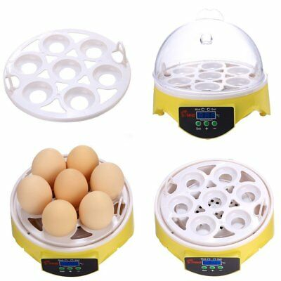 7 Eggs Incubator Chicken Duck Poultry Digital Automatic Hatcher Hatching 1QY5