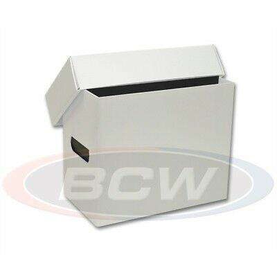 10 Short White Plastic Comic Book Storage Box Lot New BCW Strong Hold 150+ Store