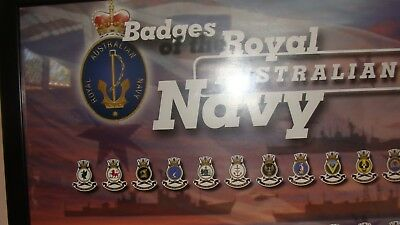 Military memorabilia Badges of the Royal Australian Navy print