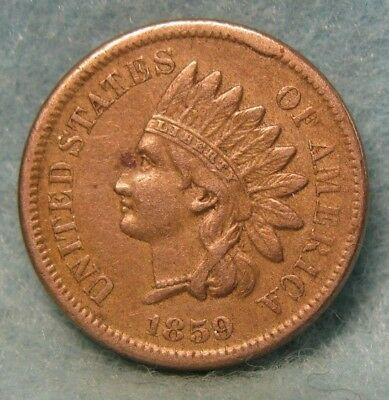 1859 Indian Head Penny XF ~ Rotated Reverse * US Coin *