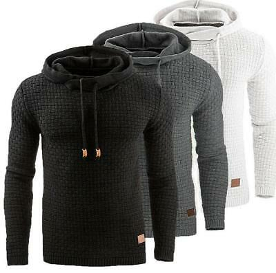 AU Winter Mens Long Sleeve Sweatshirt Hooded Hoodie Tops Sweater Jumper Pullover