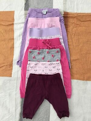 Baby Girl Cotton Leggings size 00/ 3-6mths (7 items)
