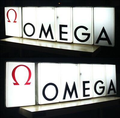 Extremely Rare Omega Luminous Relief / Sign / Advertise 1960´s Pre Moon Period