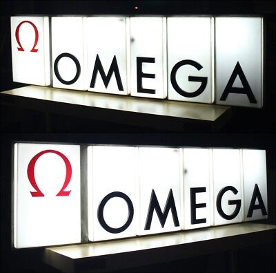 Omega Luminous Relief Sign Advertise 1960´s Pre Moon Sea Speed Master Heuer