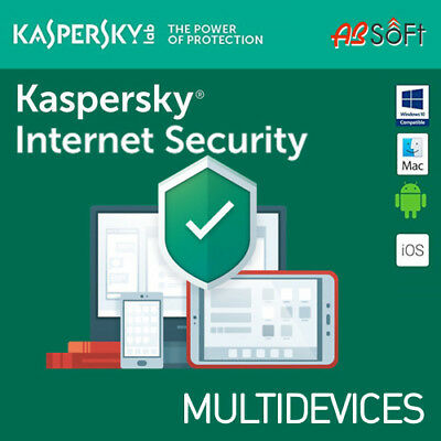 Kaspersky Internet Security 2019 3 Appareils 3 Pc 1 an MAC ANDROID 2018 FR