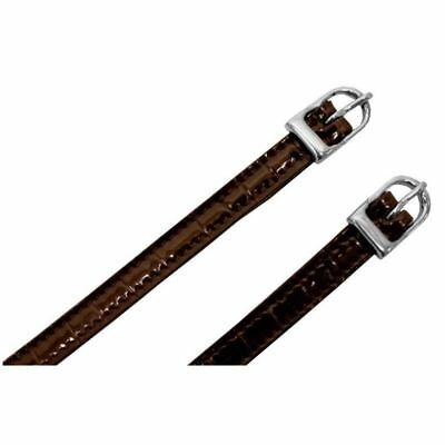 Imperial Riding Spurs Straps - Crocodile Print -  Black or Brown