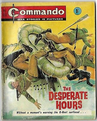 "Dated 1965. Vintage COMMANDO War Picture Comic # 157. ""The Desperate Hours"""