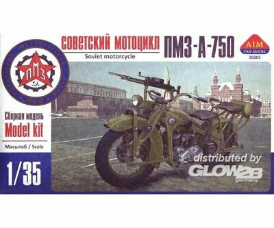 AIM -Fan Modell AIM35005 PMZ-A-750 Soviet motorcycle in 1:35