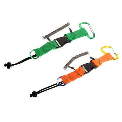 Heavy Duty Camera Spring Coil Scuba Diving Lanyard with Anti-theft Rope