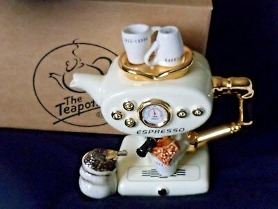 Teapottery large single coffee espresso machine with coffee bag boxed NEW