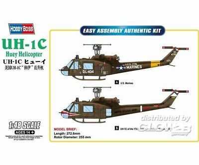 Hobby Boss 85803 UH-1C Huey Helicopter in 1:48 NEU