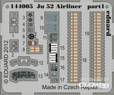 Eduard Accessories 144005 Ju 52 airliner for Eduard in 1:144