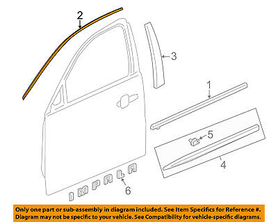 Chevrolet GM OEM 14-18 Impala Front Door-Reveal Molding Right 23100867