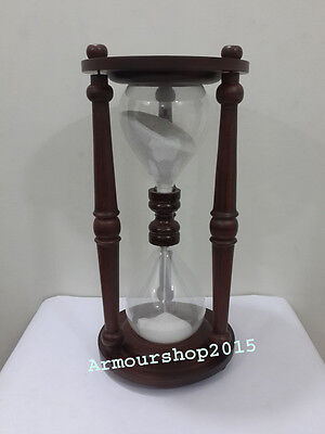 Decorative Wooden Nautical Sand Timer Table Top Beautiful Wooden Hourglass