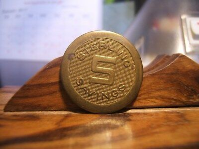 STERLING SAVINGS  COURTESY PARKING TOKEN  Brass