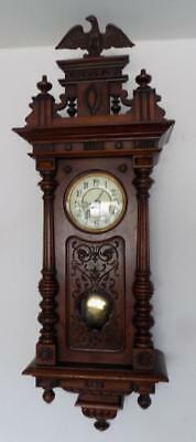 large carved walnut cased vienna ting tang wall clock by rsm germany
