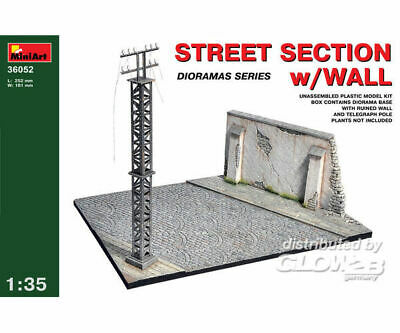 MiniArt 36052 Street section w/Wall in 1:35