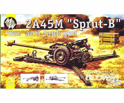 Military Wheels MW7231 2A45M ``Sprut-B`` anti tunk gun in 1:72